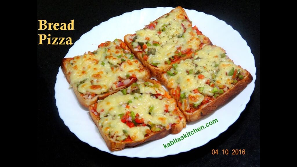 Bread Pizza Recipe | Quick and Easy Bread Pizza | Bread Pizza Recipe by kabitaskitchen