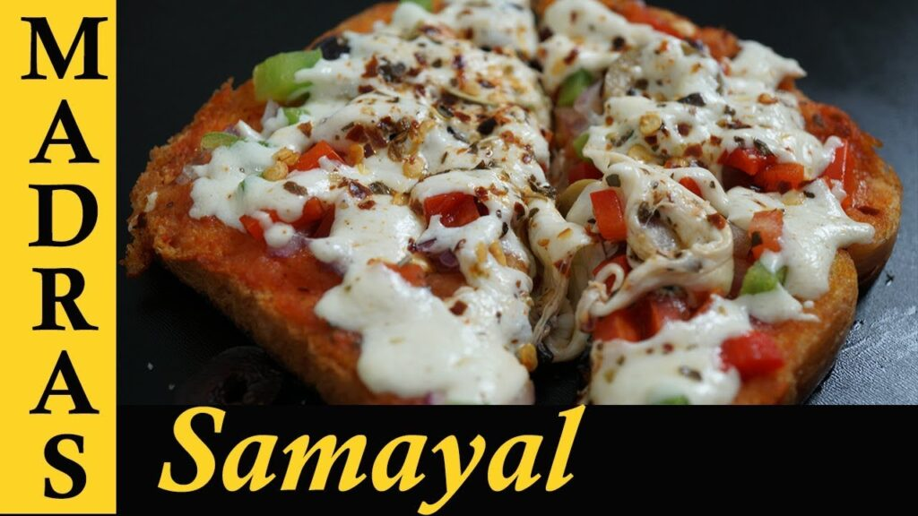 Bread Pizza recipe in Tamil | Vegetable Pizza Recipe in Tamil | Bread pizza on tawa without oven