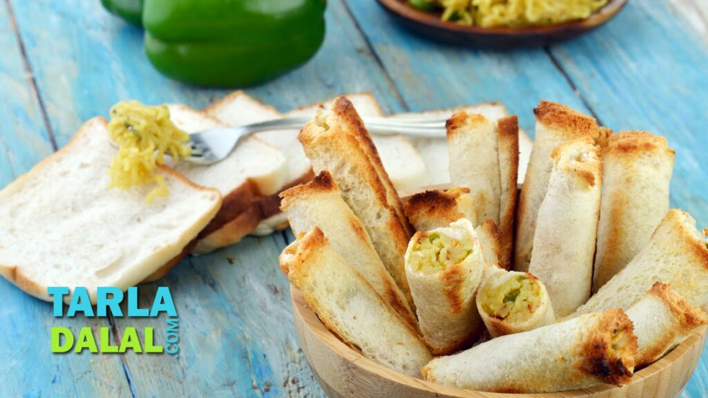 Cheesy Maggi Bread Rolls/ Simple Snack/ Easy To Make Party Starter Recipe by Tarla Dalal