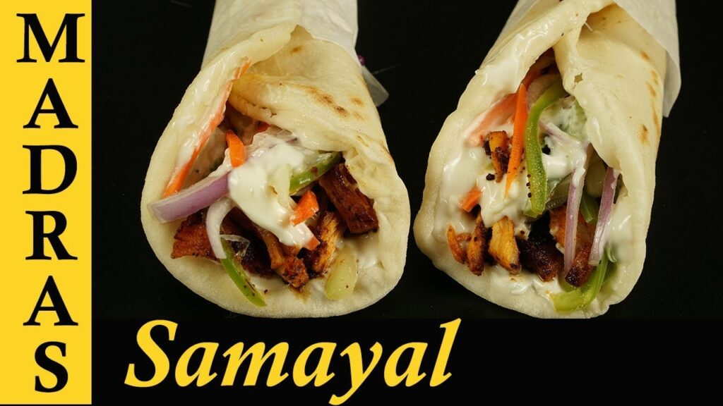 Chicken Shawarma Recipe in Tamil | How to make shawarma at home in Tamil