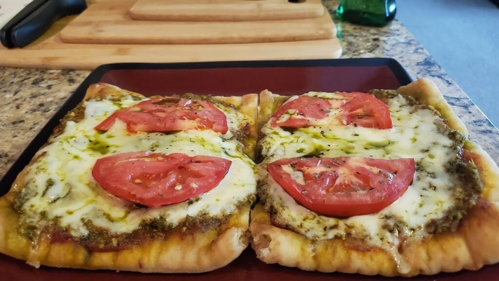 How to make Vine Ripe Tomato Basil Pesto Pizza on Brooklyn Bred | Dansoy Cook 4K