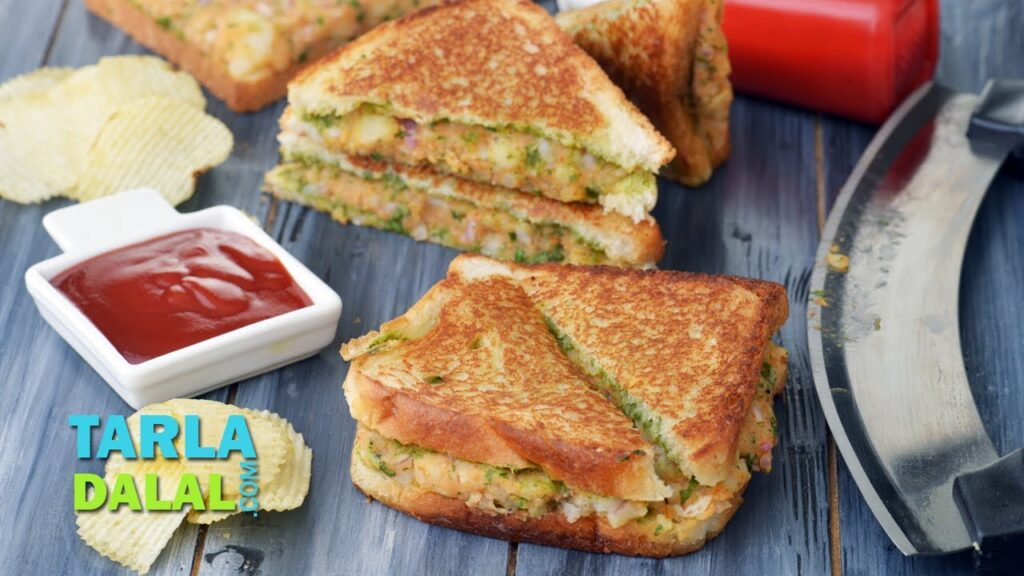 Potato Sandwich Recipe, Aloo Sandwich on a Tava, Indian Snack by Tarla Dalal