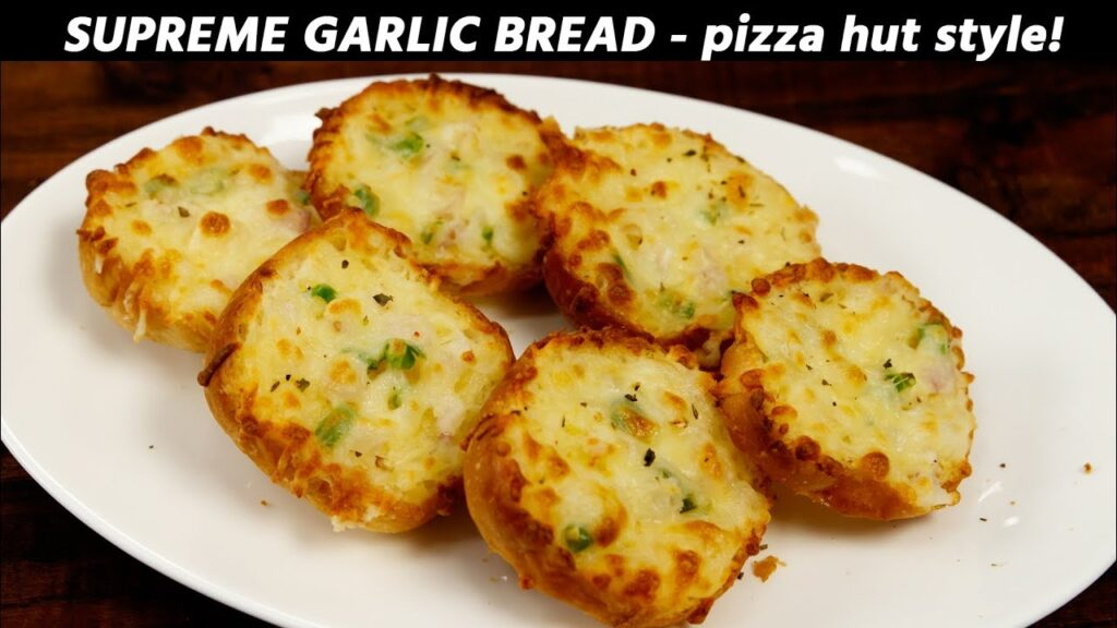 Supreme Garlic Bread – PIZZA HUT Style Recipe – CookingShooking