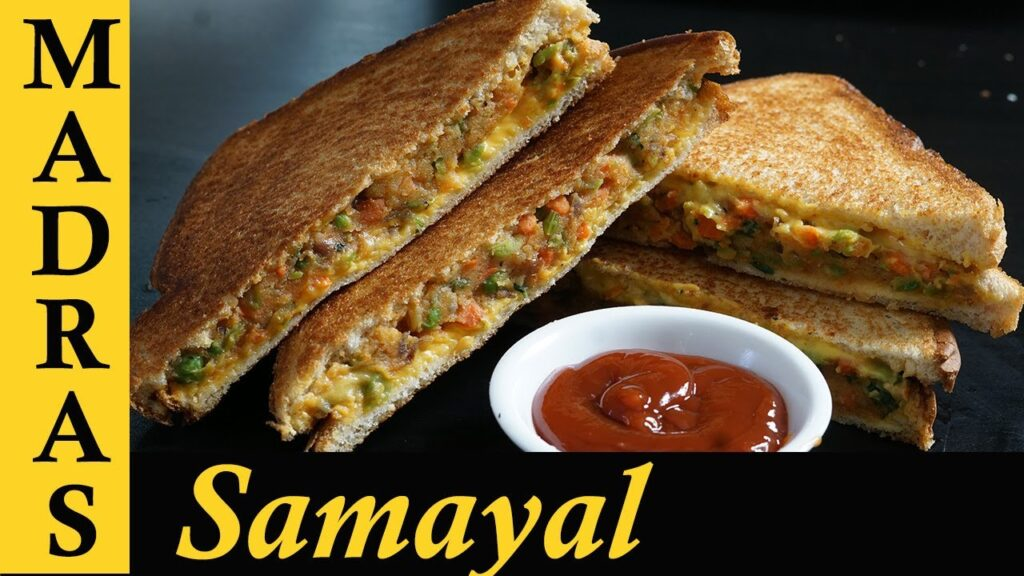 Vegetable Sandwich Recipe in Tamil | Veg Sandwich Indian style | How to make Vegetable Sandwich